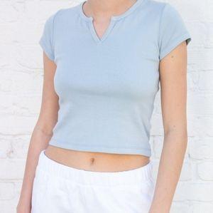 Brandy Melville Ashlyn top in light blue